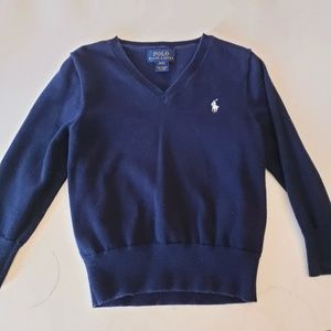 Polo Ralph Lauren V neck sweater navy blue 3T